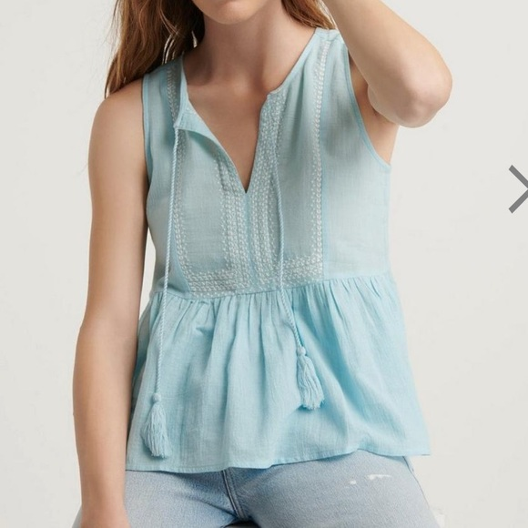 Lucky Brand Tops - Lucky Brand Robin Embroidered Tank